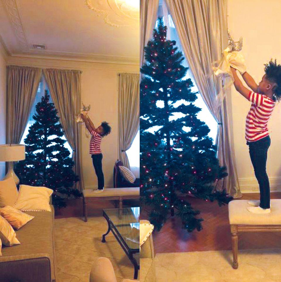 Jennifer Hudson postet in Vorfreude auf Weihnachten dieses Bild.