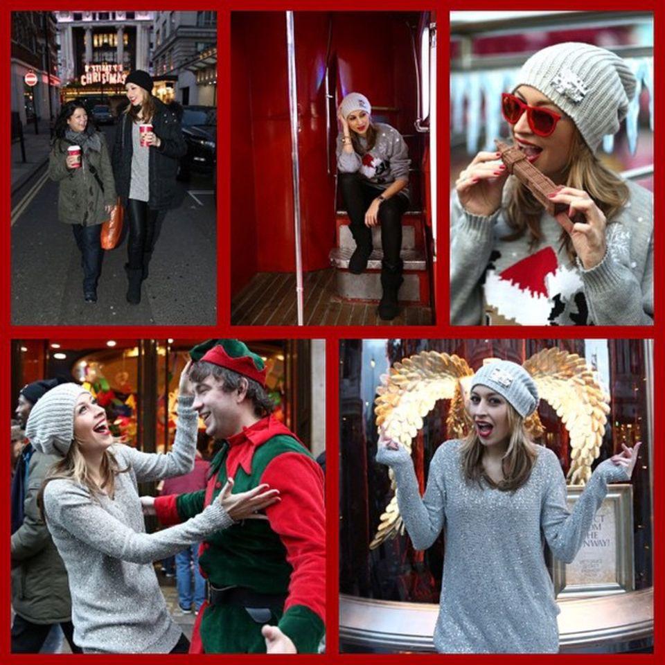 Verena Kerth ist einen Tag vor Heiligabend in London zum Weihnachtsshopping unterwegs.