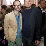 Gala-Mode-Chef Marcus Luft mit Designer Michael Michalsky.