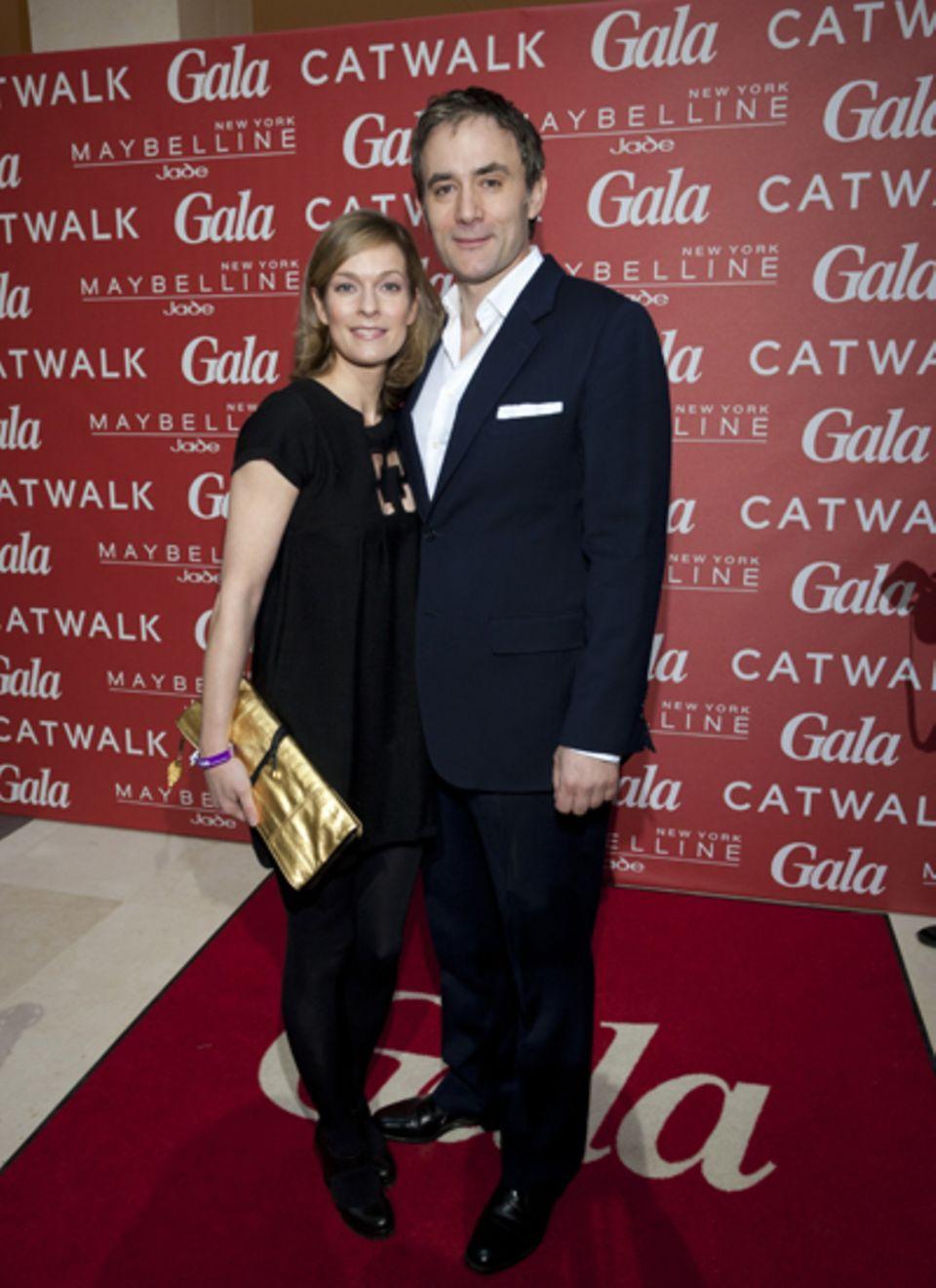 Lisa Martinek brachte ihren Mann Giulio Ricciarelli mit ins Marriott-Hotel.