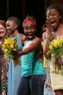 """Premierenabend am Broadway: Oscarpreisträgerin Lupita Nyong'o spielt in dem Stück """"Eclipsed"""" in New York."""