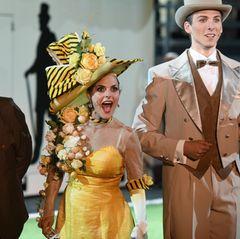 """Bei den """"Bad Hersfelder Festspielen"""" steht Sängerin Sandy Mölling als Eliza Doolittle auf der Bühne."""