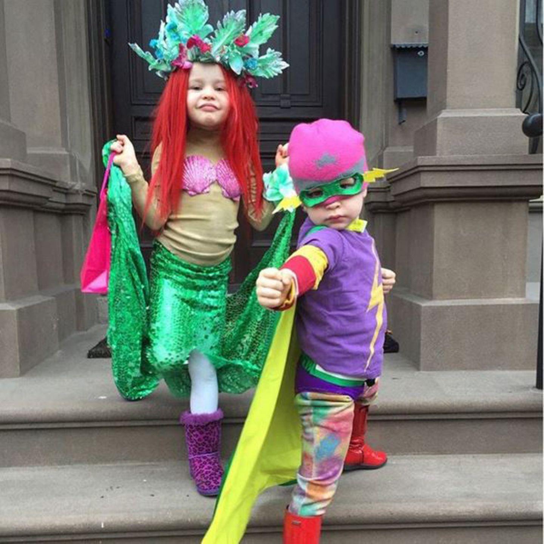 Auch die Zwillinge Harper und Gideon von Neil Patrick Harris und David Burtka habe sich für die Halloween-Feierlichkeiten in Schale geworfen.