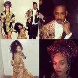 """Beyoncé und Jay Z haben sich den Eddie-Murphy-Film """"Der Prinz aus Zamunda"""" zum Vorbild genommen und sind als """"Prinz Akeem"""" und """"Königin Aoleon"""" auf dem Weg zu einer Halloweenparty."""