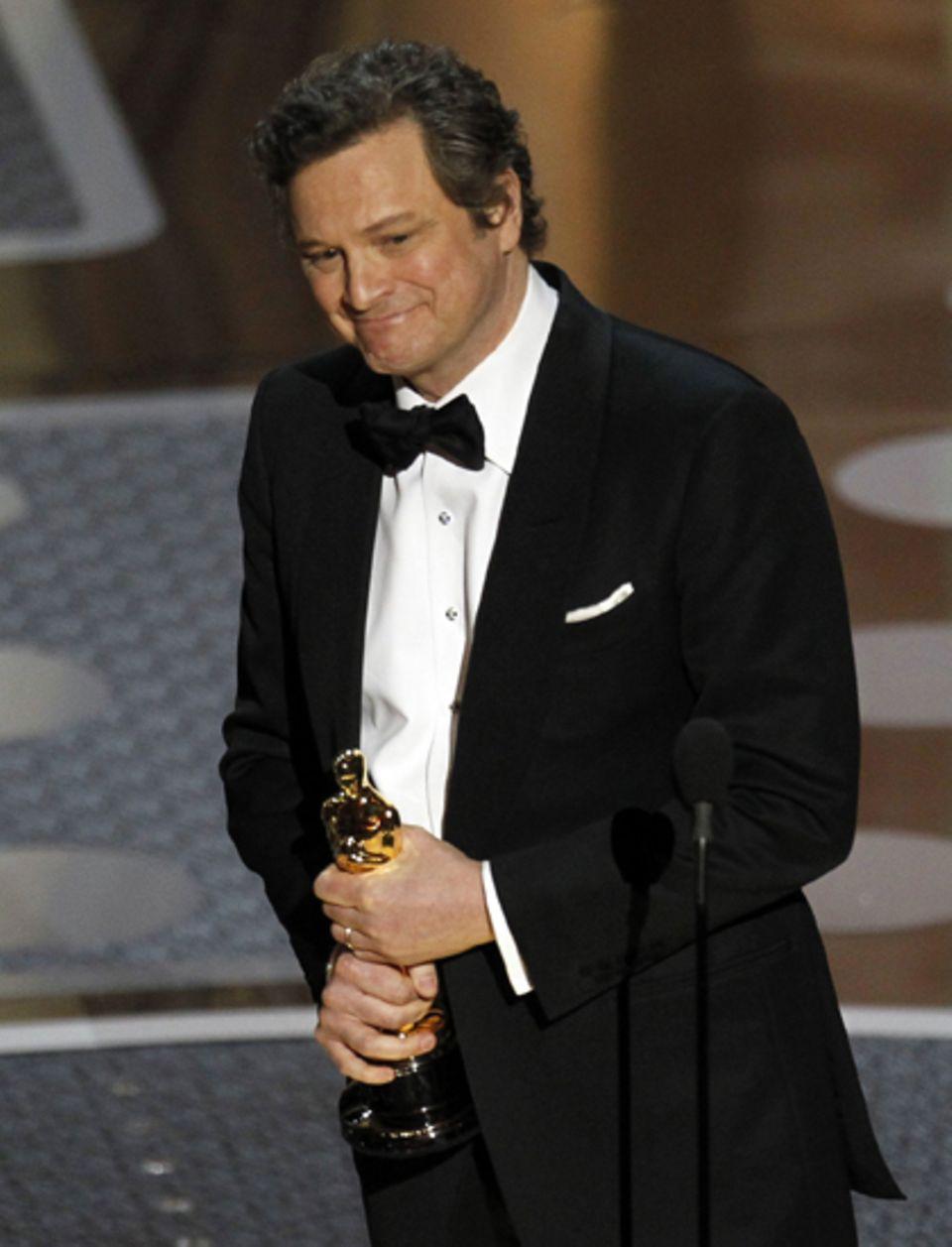 """Keine große Überraschung: Colin Firth wird als Bester Hauptdarsteller für seine Rolle in """"The King's Speech"""" mit dem Oscar ausge"""