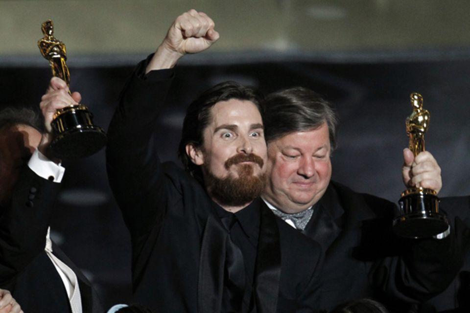 Christian Bale, ausgezeichnet als Bester Nebendarsteller macht zum Schluss nochmal ordentlich Stimmung.