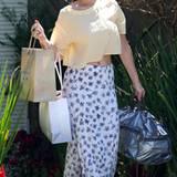 Sieht aus, als ob Jennifer Lawrence gerade vom Einkaufen kommt.