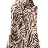 Kleid mit Zebraprint von Comma, ca. 170 Euro