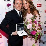 Noch ein strahlendes Paar: Piotr Trochowski und Melanie Tiburtius