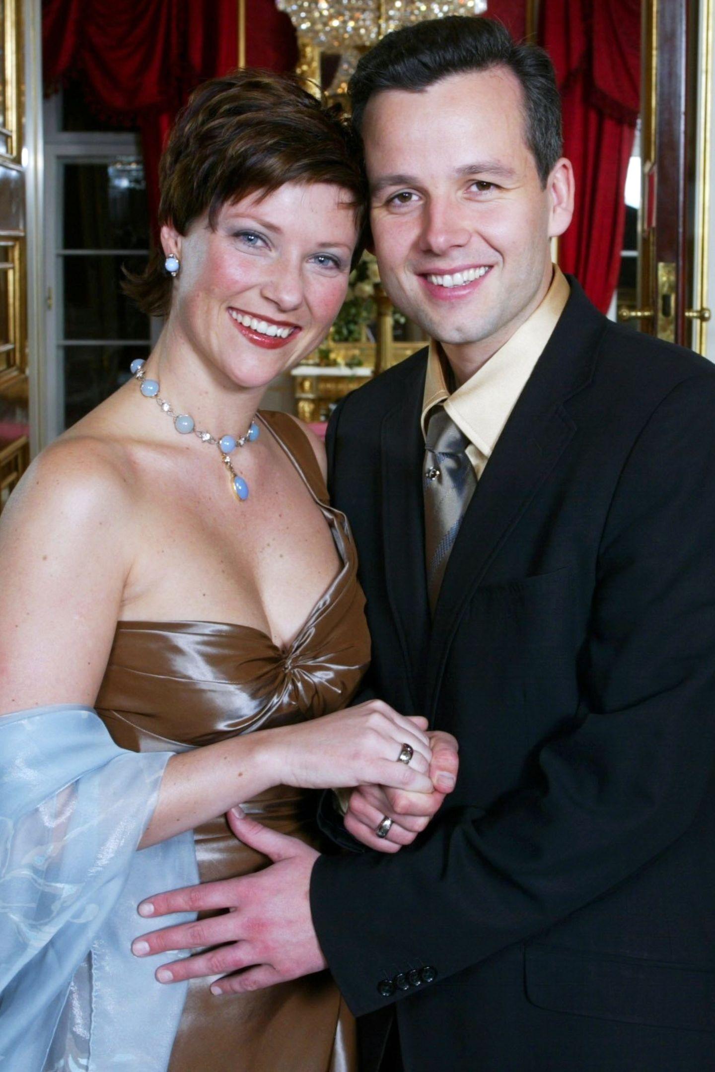 13. Dezember 2001: Prinzessin Märtha Louise von Norwegen und Ari Behn.