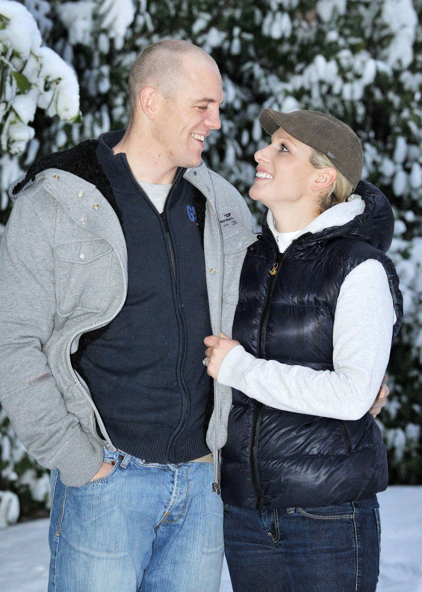 21. Dezember 2010: Zara Phillips und Mike Tindall.