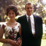 1. September 1961: Königin Sofia und König Juan Carlos von Spanien.