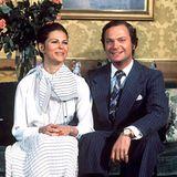 12. März 1976: Königin Silvia und König Carl Gustaf von Schweden.