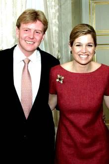 30. März 2001: Prinzessin Máxima und Prinz Willem-Alexander der Niederlande