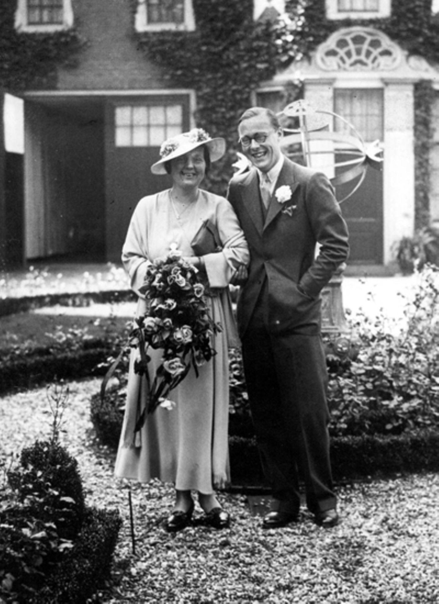 8. September 1936: Königin Juliana der Niederlande und Prinz Bernhard zur Lippe Bisterfeld