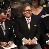 Elton John, hier mit Ehemann David Furnish (l.), ist schon ganz aufgeregt.