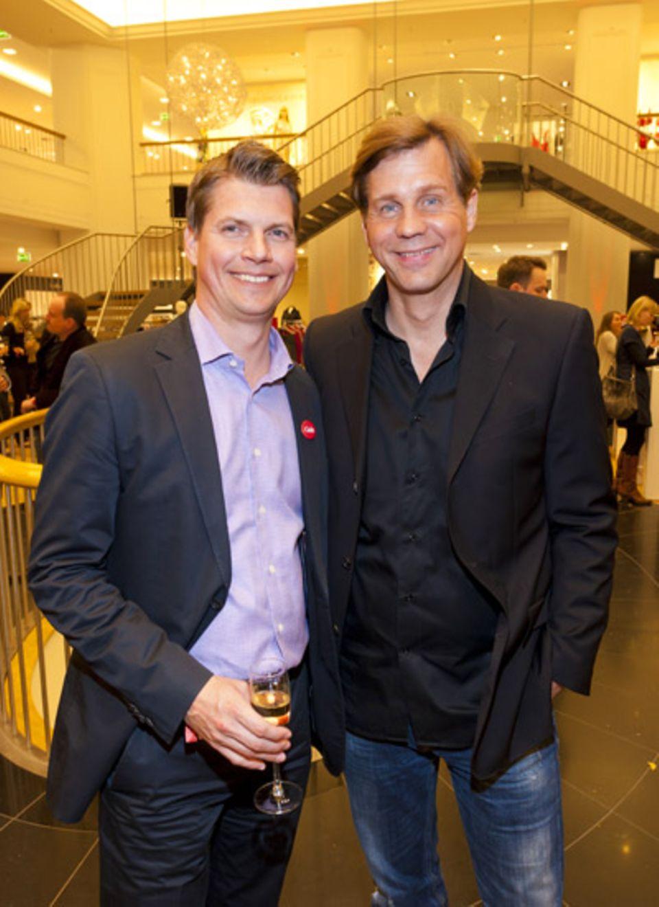 Verlagsleiter Nils Oberschelp und Thomas Heinze