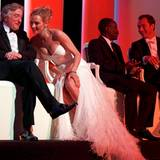 Filmfestival Cannes: Robert De Niro und Uma Thurman scheinen sich bestens zu amüsieren.