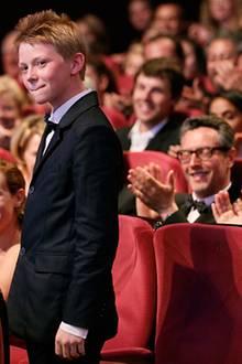 Filmfestival Cannes: Thomas Doret vergnügt sich bei der Abschlusszeremonie.
