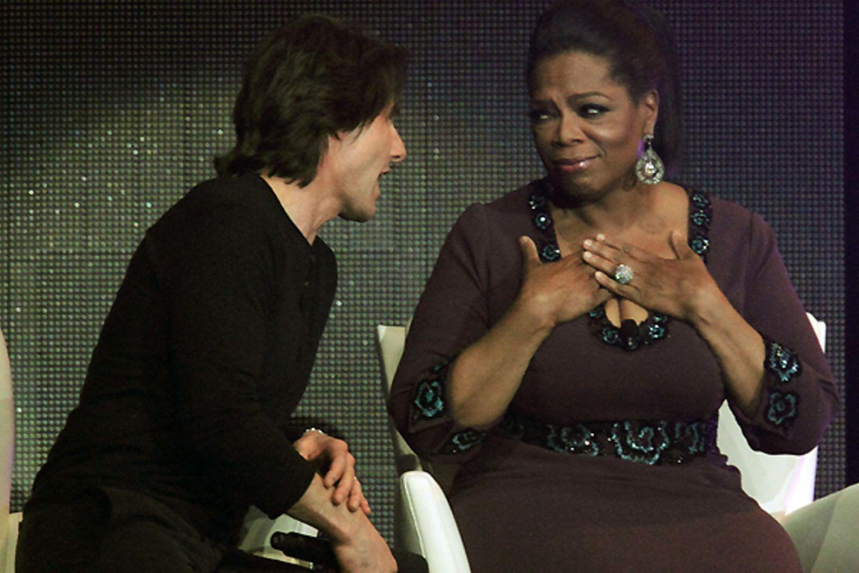 Oprah wird bei Toms Worten ganz warm ums Herz.