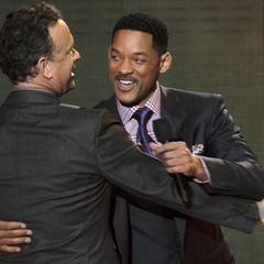Tom Hanks und Will Smith freuen sich, in Chicago dabei zu sein.