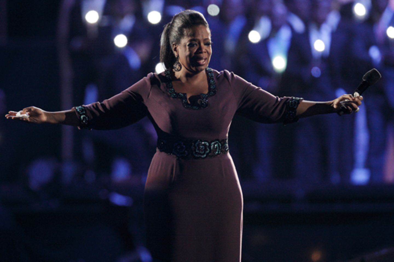 Oprah Winfrey ist überwältigt und bedankt sich bei allen für den tollen Abend.