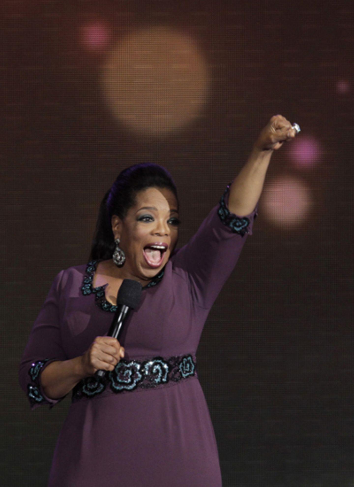 Los geht's: Oprah Winfrey freut sich auf ihre letzte Show.