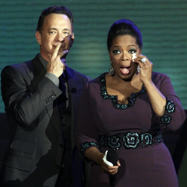 Tom Hanks und Oprah Winfrey sind zu Tränen gerührt.