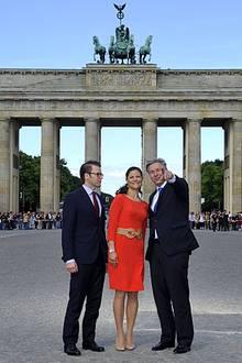 Ein Besuch am Brandenburger Tor ist für Prinzessin Victoria und Prinz Daniel natürlich Teil der Reise, und Berlins Bürgermeister