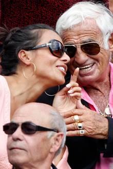 Jean-Paul Belmondo mit seiner Partnerin Barbara Gandolfi