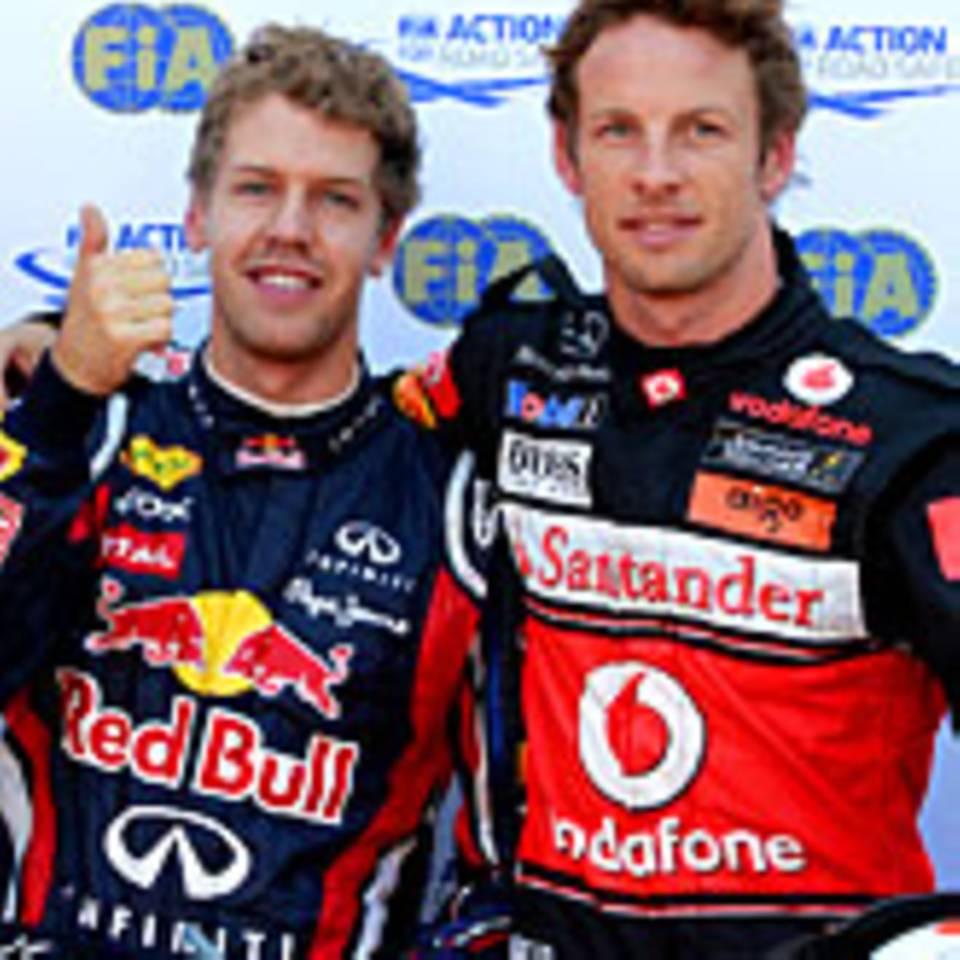 Sebastian Vettel, Jenson Button