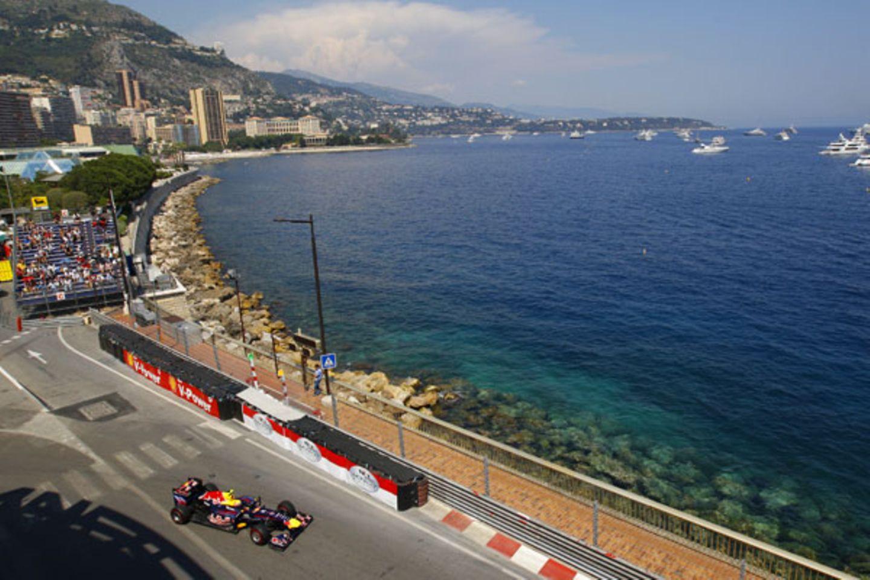 Nah am Wasser gebaut: Die Rennstrecke von Monaco.
