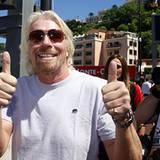 Virgin-Chef Sir Richard Branson ist schon vom Qualifying am Samstag ganz begeistert.