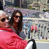 Jean-Paul Belmondo und seine Freundin Barbara Gandolfi genießen die sensationelle Aussicht.