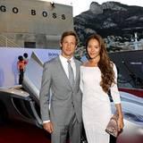 HUGO-BOSS-Stargäste in der Villa Key Largo im Hafen von Monte Carlo: McLaren-Star Jenson Button mit seiner Freundin Jessica Mich