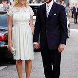 Die ersten royalen Hochzeitsgäste werden nach der Trauung vor dem Hotel Hermitage gesichtet: Prinzessin Mette-Marit und Prinz Ha