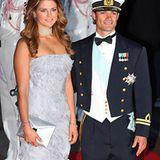 Prinzessin Madeleine und Prinz Carl Philip haben sich ebenfalls in ihre royale Abendgarderobe geworfen.