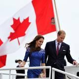 """Staatsbesuch William und Kate: Kate und William gehen von Bord der """"HMCS Montreal""""."""
