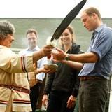 Staatsbesuch William und Kate: Beim Treffen mit verschiedener ethnischer Gruppen bekommen William und Kate einen Einblick in ihr