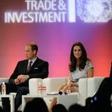 """Staatsbesuch William und Kate: Das Paar besucht eine Veranstaltung der britischen Handelskammer im """"Beverly Hilton Hotel""""."""