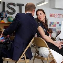 """Staatsbesuch William und Kate: William und Kate besuchen in Los Angeles die Kunstschule """"Inner City Arts"""". Dort erhalten Kinder"""