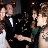 Staatsbesuch William und Kate: Bei der Veranstaltung treffen Kate un William auf viel Prominenz wie Jennifer Lopez mit ihrer Mut