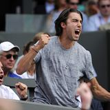 Wimbledon: Sasha Vujacic feuert seine Verlobte Maria Sharapova an.