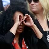 Wimbledon: Sängerin Diana Ross hat ihre eigene spezielle Sehhilfe.