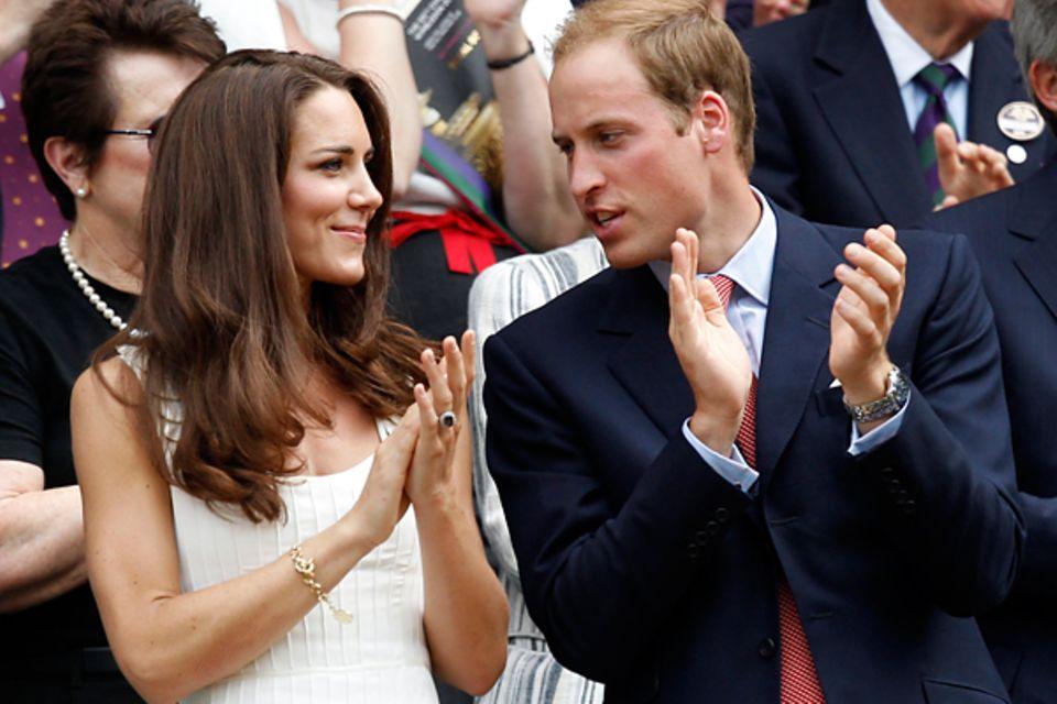 Wimbledon: Kate und William feuern ihren Landsmann Andy Murray an.
