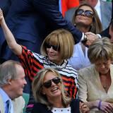 Wimbledon: Verhältnismäßig enthusiastisch sieht man Anna Wintour.