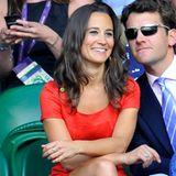 Wimbledon: Pippa Middleton und Alex Loudon beim Turteln auf den Rängen.