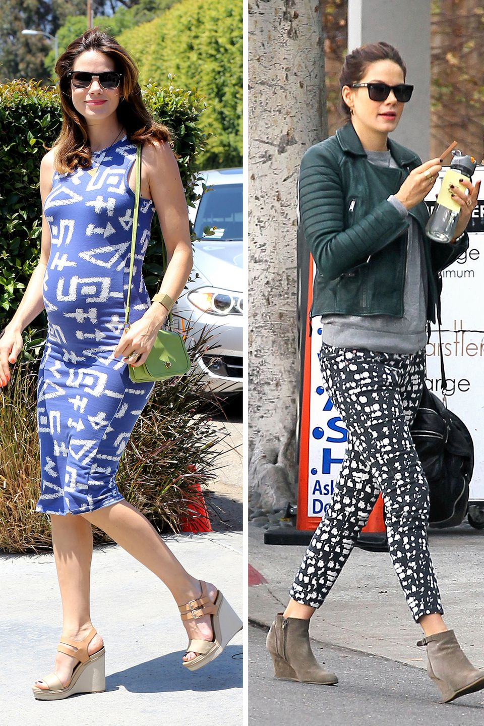Michelle Monaghan  Nur vier Wochen nach Geburt ihres Sohnes spaziert die Schauspielerin in Topform durch Los Angeles.