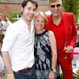 GALA-Anzeigenleiter Jonas Wolf mit Kerstin Schmidt (Wempe) und Ralf Mock (Thomas Sabo)