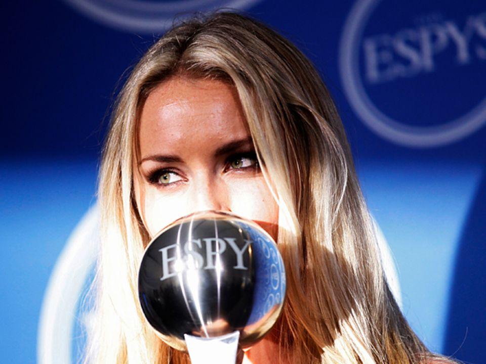 """Espy Preisverleihung: Skifahrerin Lindsey Vonn wird als """"Beste weibliche Athletin"""" ausgezeichnet."""